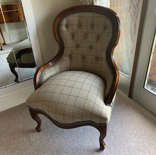 Reupholstered chair - after