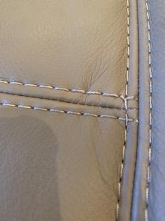 Stitching damage - after