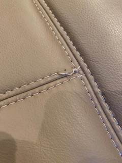 Stitching damage - before