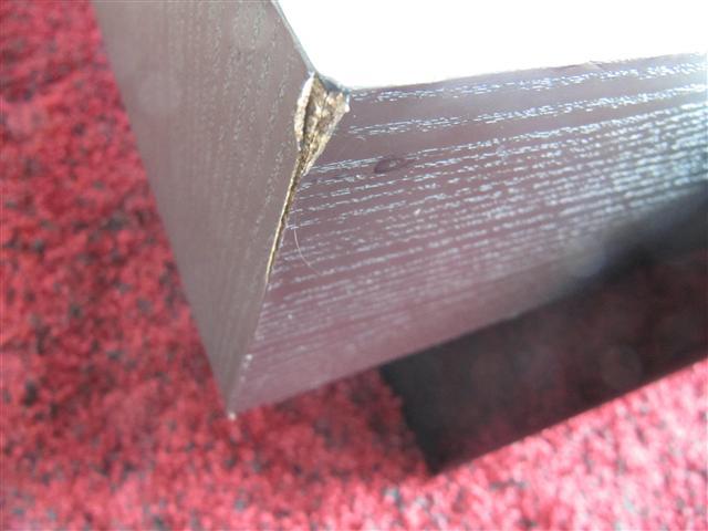 Crushed timber repair - before