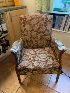 Reupholstery - before