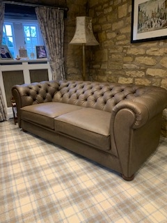 Sofa re-covered after