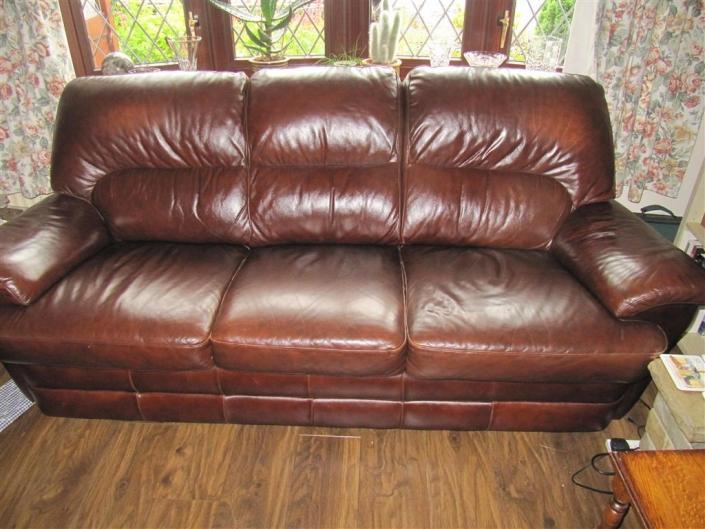 Sofa repadding - before